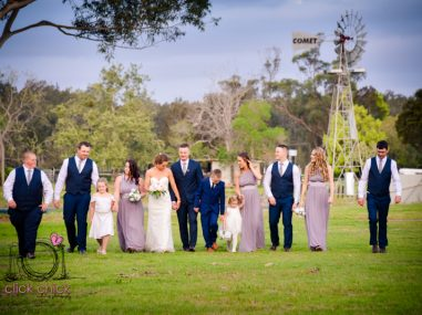 bridal party at Macksville Showground