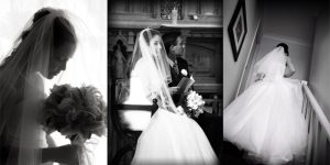 Three pictures of brides Click Chick Wedding Photography