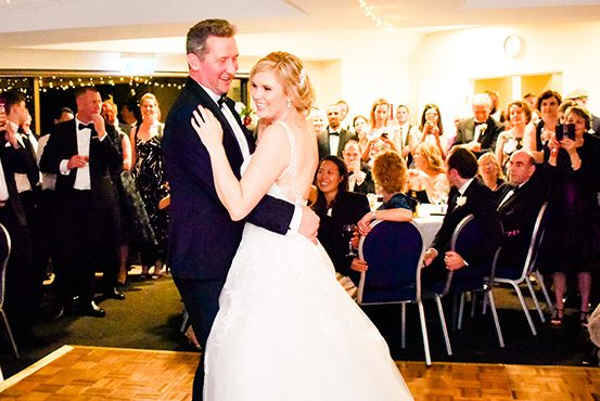 Bride and groom dancing at Annuka Coffs Harbour